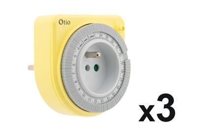 Thermostat et programmateur de chauffage Otio Lot de 3 programmateurs mécaniques jaune