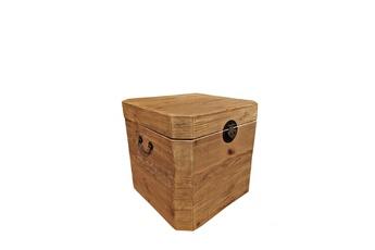 Coffre à jouets Aubry Gaspard Coffre carre en bois recycle 50 x 50 cm