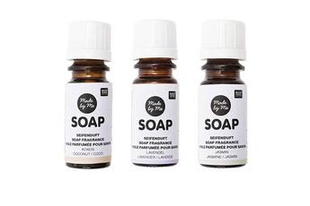 Jeux ludo éducatifs Rico Design 3 huiles parfumées 10 ml pour savon - noix de coco, lavande, jasmin