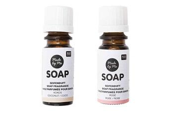 Jeux ludo éducatifs Rico Design 2 huiles parfumées 10 ml pour savon - noix de coco, rose