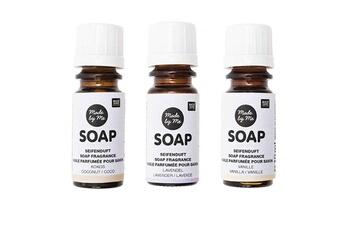 Jeux ludo éducatifs Rico Design 3 huiles parfumées 10 ml pour savon - noix de coco, lavande, vanille