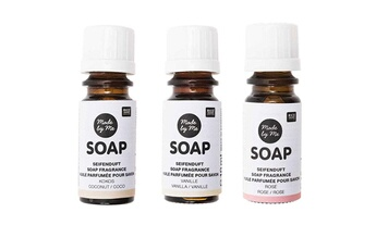 Jeux ludo éducatifs Rico Design 3 huiles parfumées 10 ml pour savon - noix de coco, vanille, rose