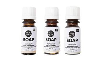Jeux ludo éducatifs Rico Design 3 huiles parfumées 10 ml pour savon - noix de coco, vanille, jasmin