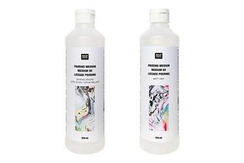 Peinture et dessin Rico Design Médium de lissage pouring - brillant 500 ml + mat 500 ml