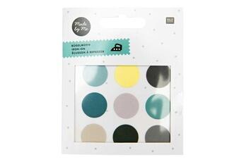 Mode et stylisme Rico Design 9 écussons à repasser - cercles - vert