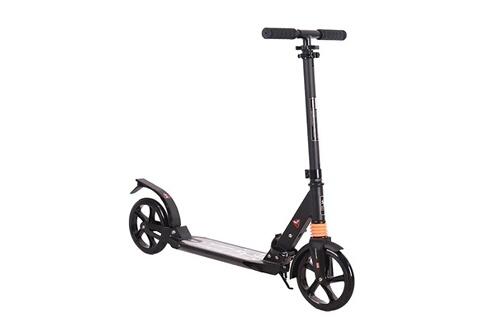 Adulte/enfants hauteur réglable coup de pied scooter  pliable noir