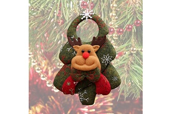 Peluches AUCUNE Santa claus hanging christmas tree door decoration jouet gift - multicolore