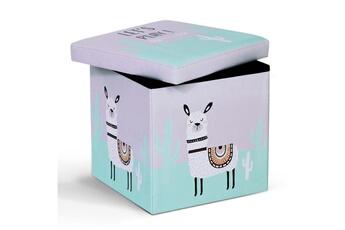 Coffre à jouets Id Market Banc coffre de rangement lama 38x38x38 cm