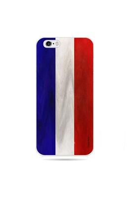 Coque pour iphone 6 plus / 6s plus souple drapeau français vintage