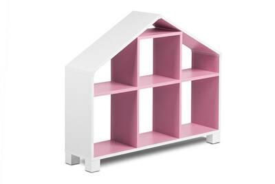 Rangement Enfant Hucoco Mirum Bibliotheque Maison De Poupee Chambre Enfant 7 Niches De Rangement 93 4x80 7x25 Cm Meuble Mobilier Chambre Enfant Blanc Rose Darty