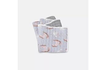 Linge de lit bébé Hucoco Dreamer | couverture bébé/enfant hypoallergénique | matériau : coton/velvet | motif : pony | dimensions : 60x100 cm | gris/rose