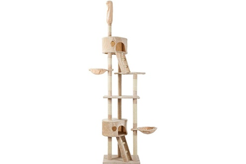 Arbre à chat avec griffoir en sisal naturel  echelle – beige 260 cm