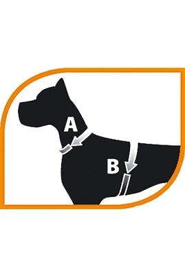 Harnais pour chien ergoflex noir 53 5 cm/57 cm