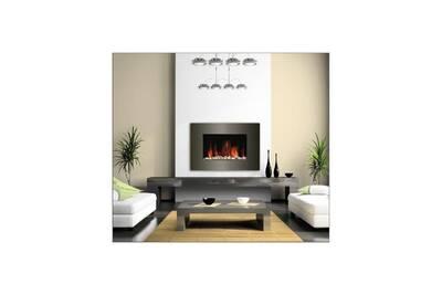 Cheminée électrique Carrera 2000 watts cheminée électrique décorative et chauffage d'appoint