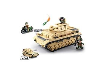 Autres jeux de construction GENERIQUE Jeu de construction compatible lego sluban wwii 2ème guerre mondiale - m38 b0693 soldats articulés 2 en 1