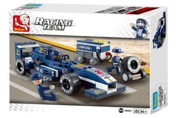 Lego GENERIQUE Sluban racing team : voiture de course bleue (m38-b0351)