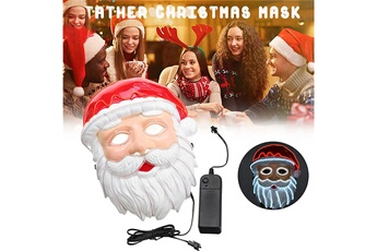 Masques AUCUNE Santa claus wire glowing christmas mask holiday cosplay led rave costume - multicolore
