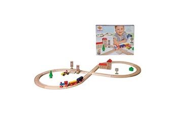 Trains Eichhorn Eichhorn set de chemin de fer-bois-35 pi?ces, 100001262