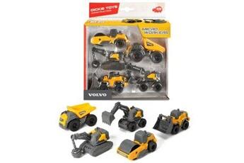 Circuits de voitures Dickie Coffret 5 v?hicules de chantier dickie toys volvo