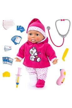 Peluches Fritz Bayer Fritz bayer 93841aa - poupon bébé docteur fonctionnel 38cm avec des yeux qui se ferment