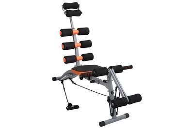 Banc De Musculation Vidaxl Appareil D 39 Exercices Abdominaux En L Avec Cordes Elastiques Darty