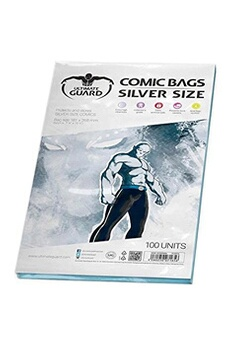 Jeux de cartes Ultimate Guard Ultimate guard comic sacs taille (argent, lot de 100)