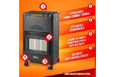 Chauffage à pétrole / gaz Warm Tech Chauffage au gaz infrarouge 4200w - warmtech