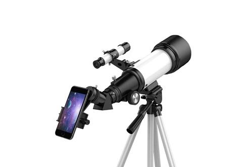 YONIS Télescope lunette astronomique 400 x 70 avec trépied & support téléphone - yonis