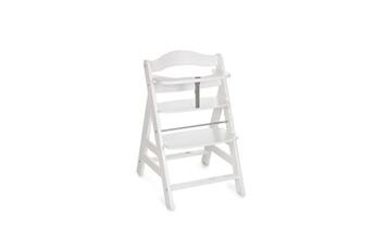 Chaise haute Hauck Chaise haute en bois pour bébé évolutive alpha + / white