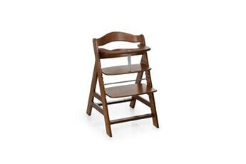 Chaise haute Hauck Chaise haute en bois pour bébé évolutive alpha + / walnut