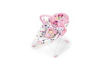Transat bébé BRIGHT STARTS Baby transat minnie spotty dotty avec vibrations et arche de jeux