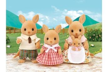 Figurines personnages Sylvanian Sylvanian families - 5272 - famille kangourou - poupées et accessoires