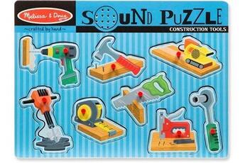 Jeux en famille MELISSA & DOUG Melissa & doug forme puzzle avec outil sonore 8 pièces