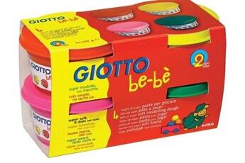Pâte à modeler et bougie GIOTTO'S Giotto 10296 pâte jouer bebe testé dermatologiquement 4 magenta pots 100g assorties