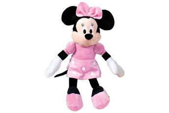 Figurines personnages Disney Famosa 760011896 peluche minnie mouse couleur rose
