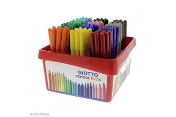Peinture et dessin GIOTTO'S Feutre de coloriage turbo color giotto x 144 - coffret école