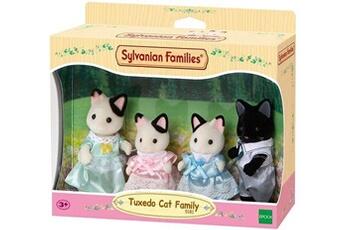 Figurines personnages Sylvanian Sylvanian families - 5181 - famille chat bicolore - mini poupée