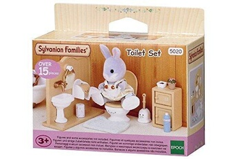 Figurines personnages Sylvanian Sylvanian families - 5020 - ensemble toilettes - mini-poupée