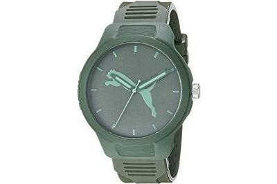 Puma reset - montre à trois aiguilles en polyuréthane verte pour homme - p5015