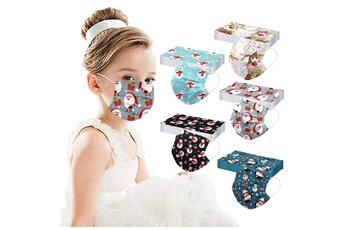 Masques AUCUNE Masque pour enfants de noël pour enfants masque facial industriel 3ply 50pcs_w39184