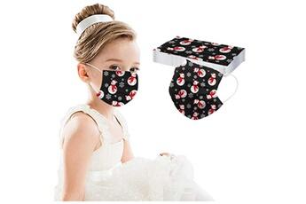 Masques AUCUNE Masque pour enfants de noël pour enfants masque facial industriel 3ply 10pcs_w39182