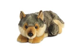 Peluches GENERIQUE Miyoni wolf allongé de 11 pouces