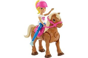 Accessoires de poupées Barbie Barbie on the go caramel pony and doll