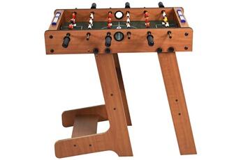 Baby foot Costway Baby-foot pliable table de jeu de football pour adultes et enfants ?? partir de 8 ans 70 x 36 x 59 cm