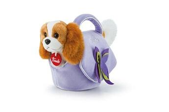 Peluches Trudi Trudi chien câlin en sac lilas marron / violet 11 x 18 x 26 cm