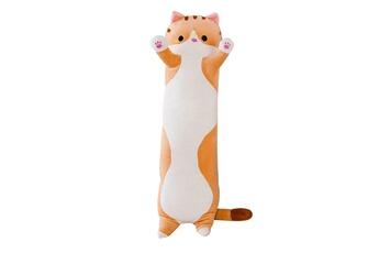 Peluches AUCUNE Peluche long cotton buddies mignon chat poupée en jouet doux oreiller de couchage -marron