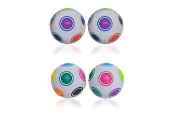 Jouets éducatifs Generic Xmas stress reliever magic rainbow ball fun plastic puzzle education toys gift multicolore_ci2532