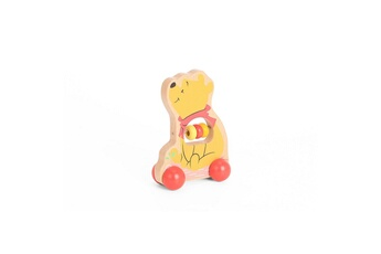 Peluches Be Imex Disney winnie l'ourson jouet ? rouler en bois multicolore - 9,4 x 5 x 12 cm