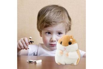 Peluches AUCUNE Peluche 11 cm mignon petit hamster pendentif en poupée petite machine -multicolore