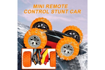 Circuits de voitures AUCUNE Voitures mini télécommandée double face spin roll enfants télécommande jouet -a